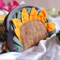 Handmade tie-dyeing fabric bag gentlewomen coin purse key wallet women's handbag small bags small fresh