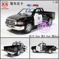 free shipping Soft world artificial alloy car model dodge Picard's toy police car pickup truck double door