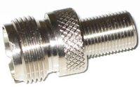 UHF So 239 Female to F Type Female Adapter