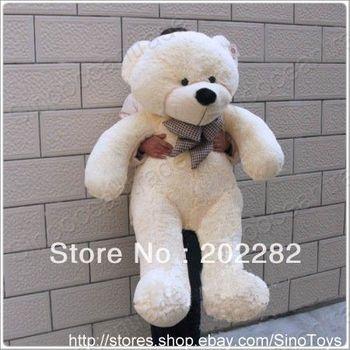 """3 3 Feet Teddy Bear Plush Toy Beige Cuddly Giant 40"""" AU"""