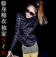 2013 fashion trench autumn and winter women personality slim stand collar outerwear round swing wadded jacket cotton-padded