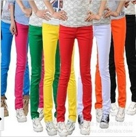 8 color jeans factory wholesale candy women pants female , candy slim pants wholesale women pencil pants