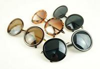 Wholesale/Retail 2015 New Arrival Vintage Round Frame Sunglasses Fashion 4/Color UV 400 CE Women Eyewear D38