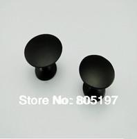 Single hole ,Furniture knobs ,Cabinet handle  Black  8 pcs/Lot  Small Size