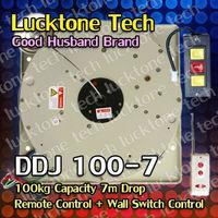 Chandelier Winch Lighting Lifter Remote Lighting Hoist Light Lift DDJ100-7(100kg Capability 7m drop 110--240V) Free Shipping