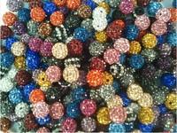 TOP 100pcs colour mix 10mm Shamballa Disco Balls Beads Make Shamballa Bracelects free shipping