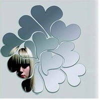 Min order 15 usd ( Mix items ) Love the mirror wall stickers Mirror Surface Wall Sticker