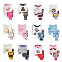 Free shipping Male female child lounge 100% cotton underwear set summer air conditioning sleepwear