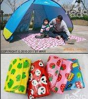 Foldable cartoon style pp baby games beach mat crawl/creep pad picnic carpet camping & outdoor 180*160cm free shipping