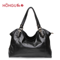 HONGGU women's handbag 2013 women's handbag black cowhide fashion casual bag shoulder bag 11141505528