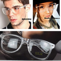 Retail Jelly Plain Rivet Glasses Transparent Frame General Fashion Glasses For Men Women 029