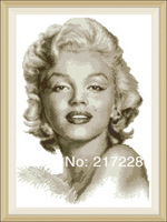 11CT Cross Stitch Embroidery Set portrait Marilyn Monroe 43*56cm CS-041WM-B