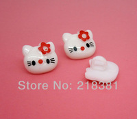 200PCS  Plastic Hello Kitty Pattern Cartoons Sewing Cloth Kids Button Clothes Findings 14X13mm