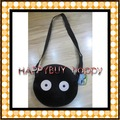 Free shipping  50pcs My neighbor totoro coal excrement Cartoon Kid sling Bag Hand Bag Children Plush Bag Toys Gift
