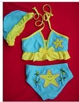 New!baby bikini swimwear2~9T,children swimsuit,kids swimming suit,lovely baby carton beachwear,nice baby costumes