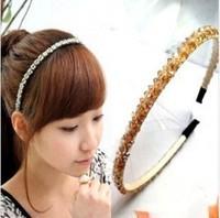 Double crystal hair bands handmade diy accessories hair pin headband hair accessory hair accessory