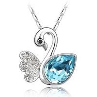 Accessories accessories austria crystal dream swan lake charm short necklace design