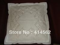 50% linen, 50% cotton pillow case, hand-made embroidery pillow case