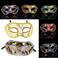 halloween dance performances party mask coloured drawing or pattern venetian leopard embroidered masks free shipping promotion