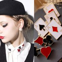 E7052 accessories poker fancy small brooch cravat