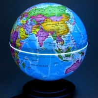 HOT SALE! FREE SHIPPING Led rotating globe light emitting birthday gift home new arrival