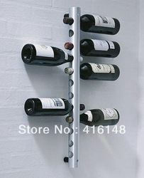 NEW MODERN CONTEMPORARY WALL MOUNTED STAINLESS STEEL WINE RACK 12 HOLE BOTTLE free shipping(China (Mainland))