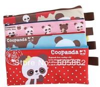 New hot chocolate panda series canvas fabric pencil pouch / pencil bag  A0105
