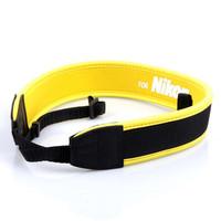 Yellow Neoprene Neck Strap for DSLR Camera