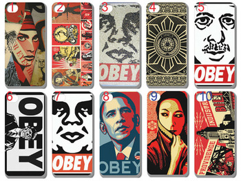free shipping!factory price!new  skin design OBEY   case hard back cover for iphone 5 5th 10PCS/lot