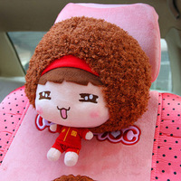 Free shpping Saw doll car accessories cartoon car headrest neck pillow kaozhen MONCHHICHI headrest
