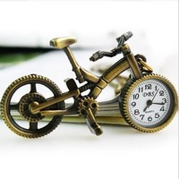 Missgirl vintage bicycle suntanned necklace watch girls watch child table