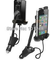 1500mAh Universal usb Car cigarette lighter + car holder for smart phone iphone 4 5 samsung htc mobile