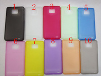 Ultrathin case 0.2 mm colour Crystal Clear solf Back Cover Case For Samsung SII I9100 50pcs/lot