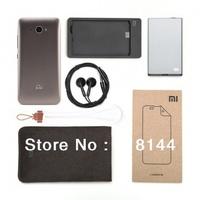 100% original xiaomi MI2 accessories (full set) back cover + headphone + lanyard + film + charger + battery + protective bag
