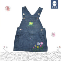 [Free Shipping] John Deere Demin Dress with Embroidery Jeans
