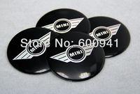 4PCS 55.5MM MINI Car Motor Auto Wheel Rims Center Emblem Sticker Badges