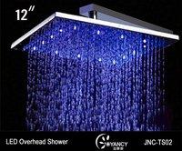 FREE SHIPPING square top grade led overhead shower,led rain shower,led top shower-JNC-TS02
