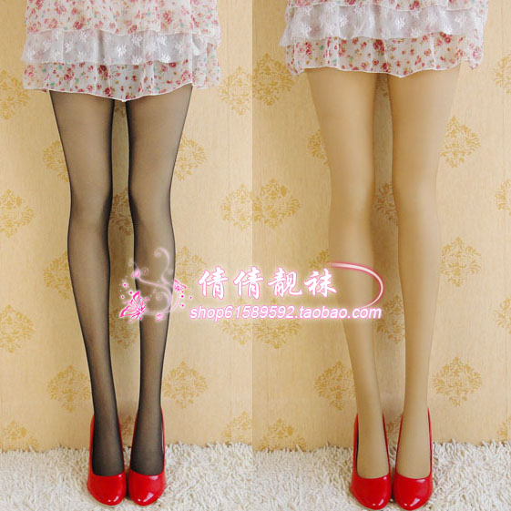 Free shopping DHL EMS Nylon pantyhose socks stockings thin black skin color(China (Mainland))