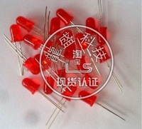Free shiping 50pcs 5mm Red led Red Diffused 2pins