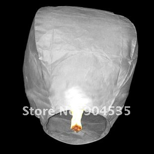 New 10pcs/lot White color only chinese sky balloon fire lanterns 98cm*60cm*40cm wishing light sky lanterns for wedding(China (Mainland))