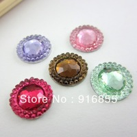 Free shipping the newest fashion 300pcs/lot 12mm circle  flatback resin rhinestone for DIY decoration(many colors to choose)