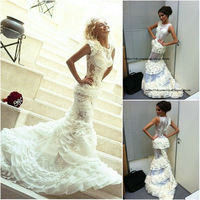 WM092 Fashion design lace mermaid pictures of sexy wedding night dresses
