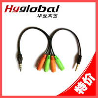 Laptop single hole earphones headset one piece two-in-one audio cable single jack earphones 2 1 adapter cable
