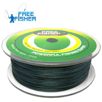 2014 Limited Promotion Ocean Beach Fishing Mainline Braided Wire Green 500m Dyneema 4 Braided Wire Pe Fishing Line Free Shipping