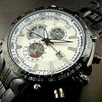 Curren New Top Brand Men Watch Luxury Men Black Steel Sport Calendar Styles Military Quartz Watches Free Shipping