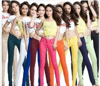 2013 women's slimming candy multicolour legging skinny pants slim mid waist pants fashion tights