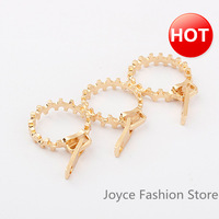 Min Order $10, Designer Jewelry,Gold Plated Zipper Rings,Replica Championship Rings,Vintage Accessories For Women
