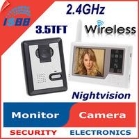 """1pcs/Lot New 3.5"""" TFT Wireless Video Intercom Doorbell Door Phone Home Wireless Video Security Camera"""