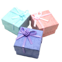 Free shipping if order >$10 Pearl ring box embossed stud earring box jewelry box packaging jewelry packaging box 4 4 3.2cm