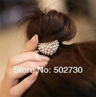Fashion Jewelry Gold-plated Heart Hair Accessories 2pcs/Lot Z-B8020 Free Shipping